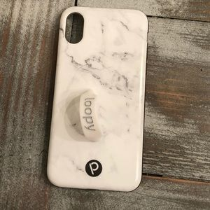 Marble loopy case for iPhone X